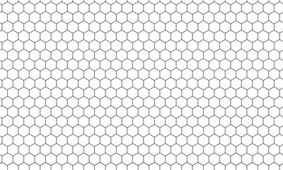 Hexagon net pattern vector background