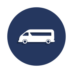minibus icon in badge style. One of cars collection icon can be used for UI, UX