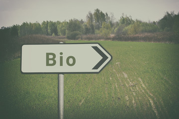 Bio friendly sign.