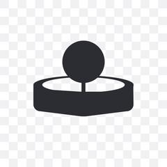 Head mirror vector icon isolated on transparent background, Head mirror logo design