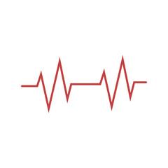 Heartbeat icon. Vector illustration, flat design.