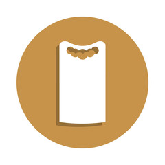 dress shift icon in badge style. One of clothes collection icon can be used for UI, UX