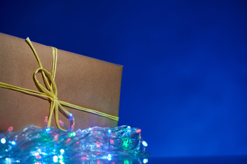 Simple Christmas box with decorations