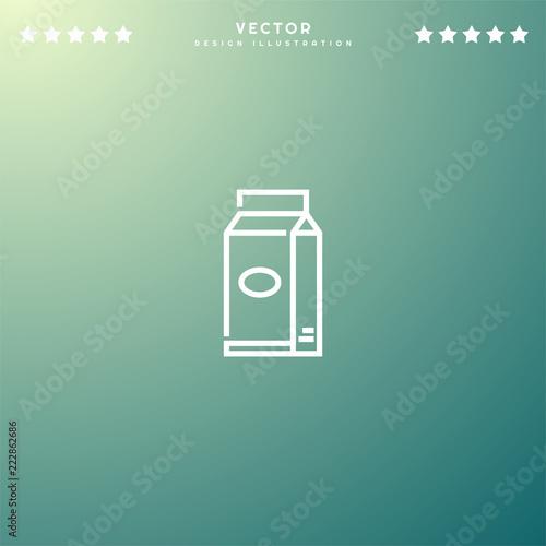 Premium Symbol Of Milk Related Vector Line Icon Isolated On Gradient