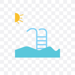 swimming pool icon isolated on transparent background. Simple and editable swimming p