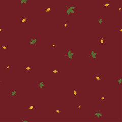 Autumn leaves seamless pattern color