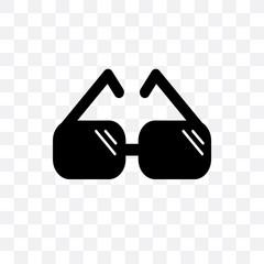 childish eyeglasses icon isolated on transparent background. Simple and editable childish eyeglasses icons. Modern icon vector illustration.