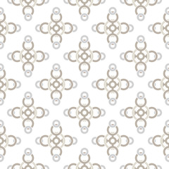 Seamless pattern with a pattern of connected rings. Continuous chain of shapes.