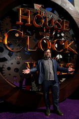 """Actor Jack Black poses at the premiere for """"The House With a Clock in its Walls"""" in Los Angeles"""