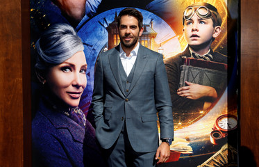 """Director Eli Roth poses at the premiere for """"The House With a Clock in its Walls"""" in Los Angeles"""