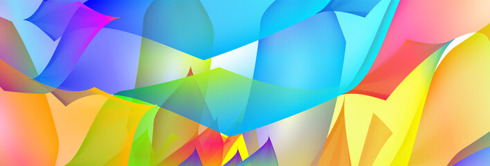 Gradient abstract space multicolored vector background with illustration specks. The pattern can be used for aqua ad, booklets, advertising and designers