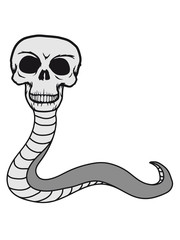 schlange monster gruselig schädel skelett tot tod knochen horror halloween kopf totenkopf böse comic cartoon clip