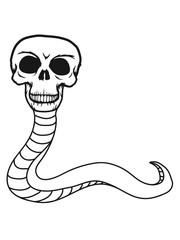 schlange monster gruselig schädel skelett tot tod knochen horror halloween clipart kopf totenkopf böse comic cart