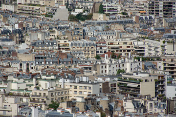 Aerial view of parisian buildings, Paris, France