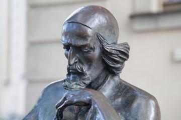 Aluminium Prints Historic monument Bronzeskulptur