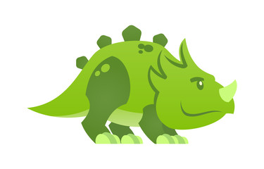 Cute little dinosaur character. Dino child mascot