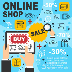 Online shop sale and items order