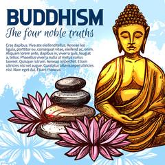 Buddhism religion Buddha and lotus
