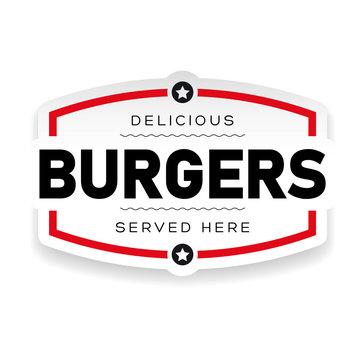 Food logo Burger vintage