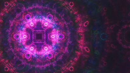 Abstract creative fractal fantasy background. Template for card design.