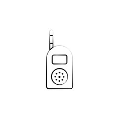 Baby radio concept line icon. Simple element illustration. Baby radio concept outline symbol design from Motherhood set. Can be used for web and mobile UI/UX