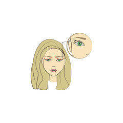 enlarge eye operation colored icon. Element of beauty and anti aging icon for mobile concept and web apps. Color enlarge eye operation icon can be used for web and mobile