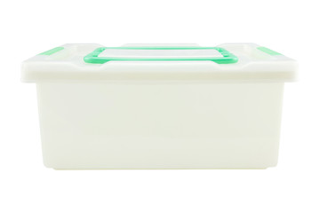 Plastic storage box Plastic container isolated on white background Wall mural