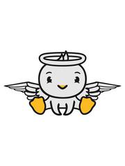 ente vogel küken engel himmel sitzen tot gestorben schutzengel süß neidlich comic cartoon clipart flügel heiligensch