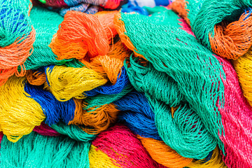Colourful mesh fishing nets for sale