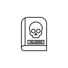 Ancient skull horror book  icon. Element of Halloween holiday icon for mobile concept and web apps. Thin line Ancient skull horror book  can be used for web and mobile