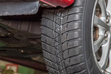 タイヤ交換 Exchange of tire