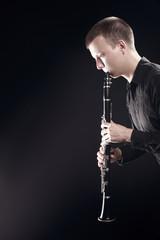 Keuken foto achterwand Muziek Clarinet player classical musician playing