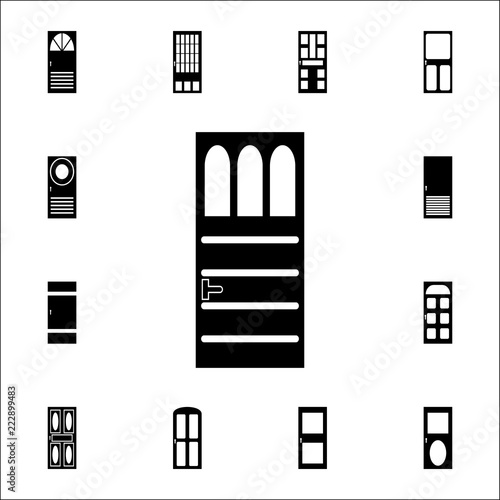 Iron door icon  Doors icons universal set for web and mobile