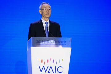 Chinese Vice Premier Liu He attends the opening ceremony of the World Artificial Intelligence Conference in Shanghai