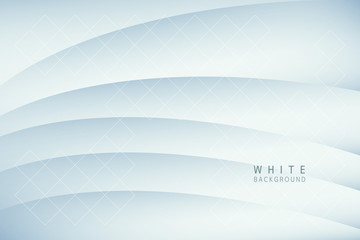 Abstract background with perspective. White geometric shapes.