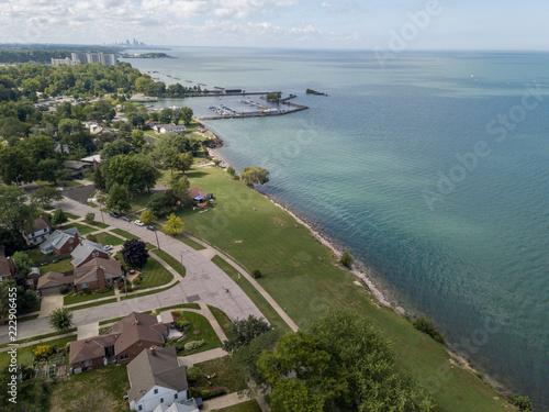 Euclid Ohio lakefront view of Lake Erie