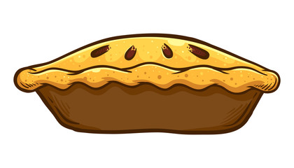 Hand Drawn Traditional Apple pie