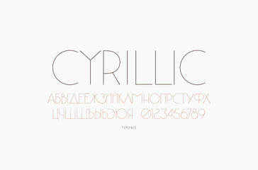 Sans serif font in classic style