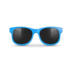 Realistic fashion sunglasses isolated design. Retro style vector sunglasses