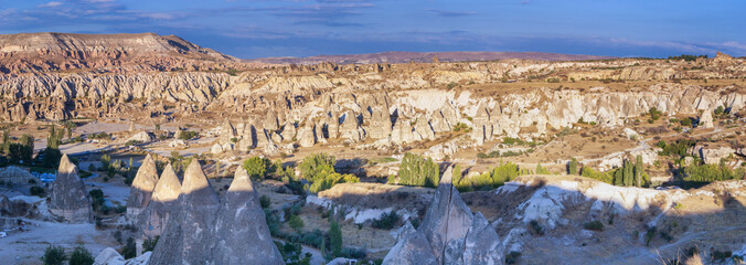 Panorama of Cappadocia, Turkey