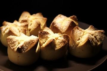 Freshly baked sweet bread known as Putok