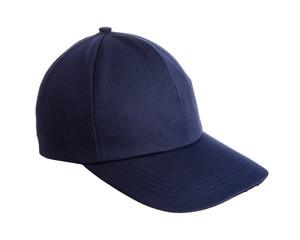 Blue hat isolated on white background.
