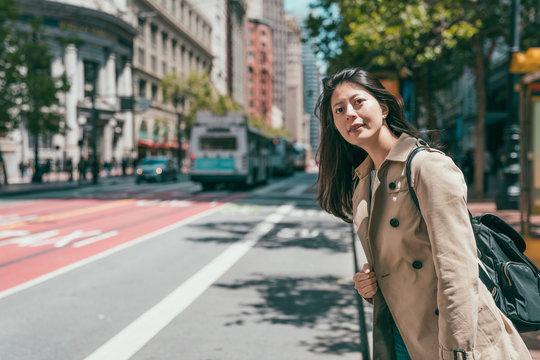 woman visiting san francisco city