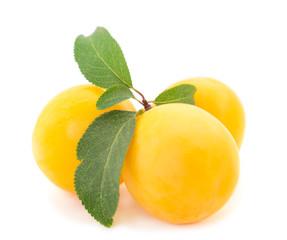 Yellow plum isolated