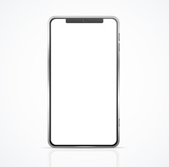 Realistic Detailed 3d Blank Phone Template Mockup. Vector