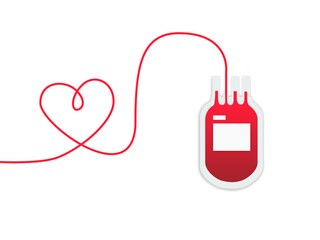 donate blood for sharing love, blood donation vector