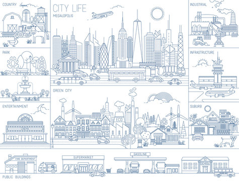 City Skyline Vector landscapes