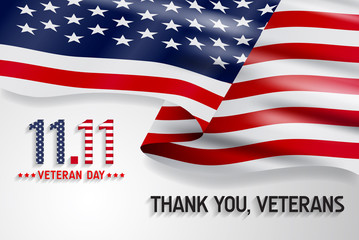 "Veterans day background. Say ""thank you veterans"" greeting card."