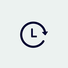 clock icon, vector illustration. flat icon. time icon