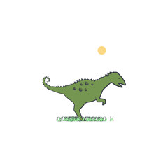 coritosaurus cartoon icon. Element of Jurassic period icon for mobile concept and web apps. Color cartoon coritosaurus icon can be used for web and mobile